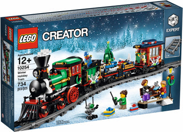 LEGO Set-Winter Train-Holiday / Christmas-10254-1-Creative Brick Builders