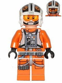 "LEGO Minifigure -- X-Wing Pilot ""75032""-Star Wars / Star Wars Episode 4/5/6 -- SW0544 -- Creative Brick Builders"