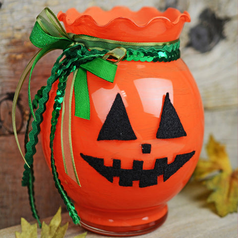 Jack O' Lantern Glass Bowl