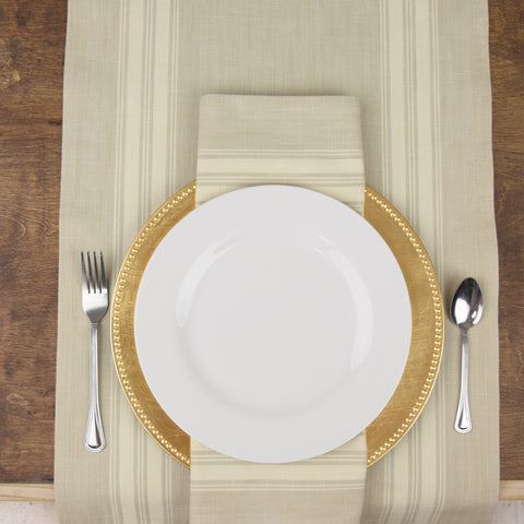 Table Runner and Napkins from Toweling