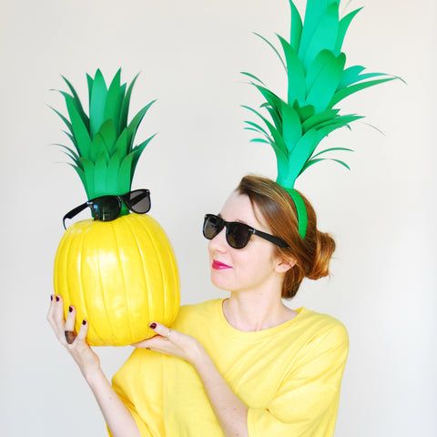 Pineapple Costume & Pumpkin