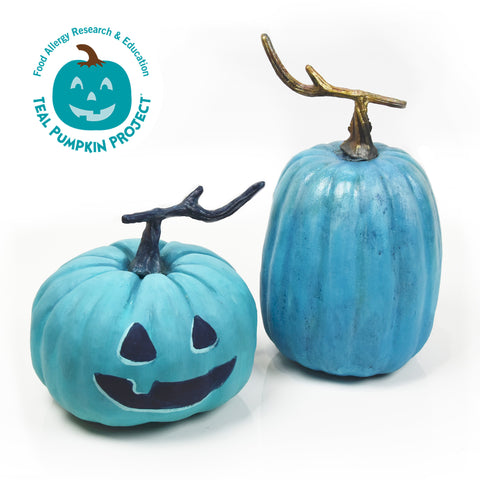 DIY Teal Pumpkins