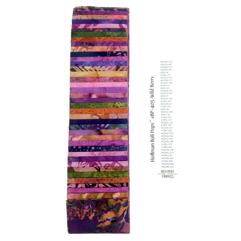Hoffman Bali Pops Fabric Strip Bundle - Wild Berry