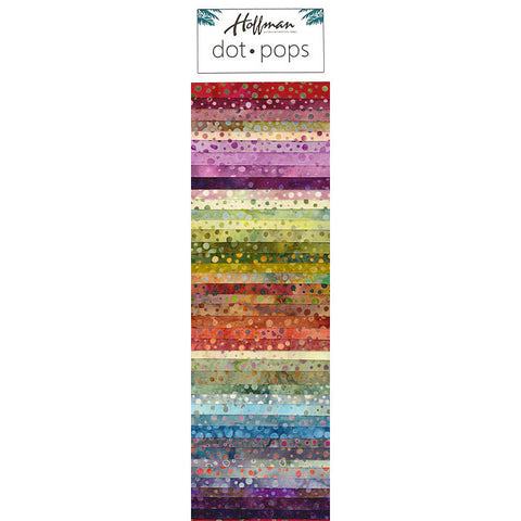 Hoffman Dot Pops Fabric Strip Bundle - Global Spice