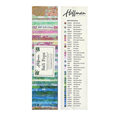 Hoffman Bali Pops Fabric Strip Bundle - Chintz