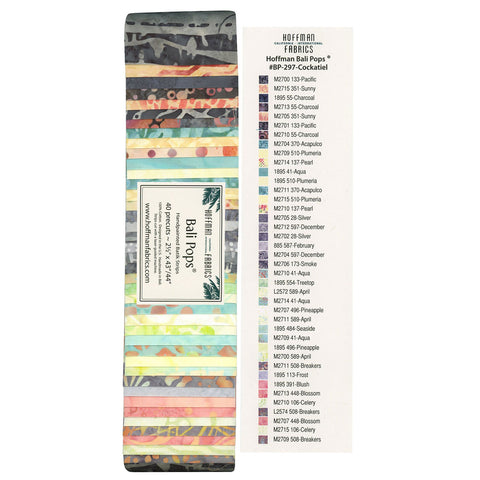 Hoffman Bali Pops Fabric Strip Bundle - Cockatiel