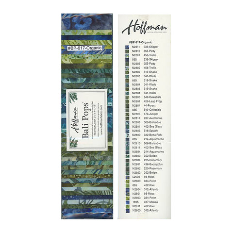 Hoffman Bali Pops Fabric Strip Bundle - Organic
