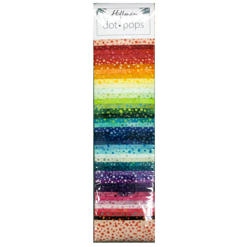 Hoffman Dot Pops Fabric Strip Bundle - Nirvana