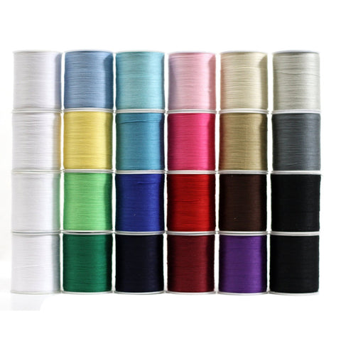 Polyester Sewing Thread 24 Spools (200 yards each) - Multi Colored