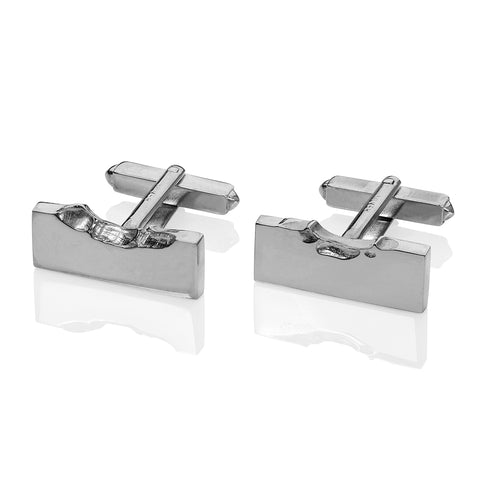 Love Bite cufflinks silver