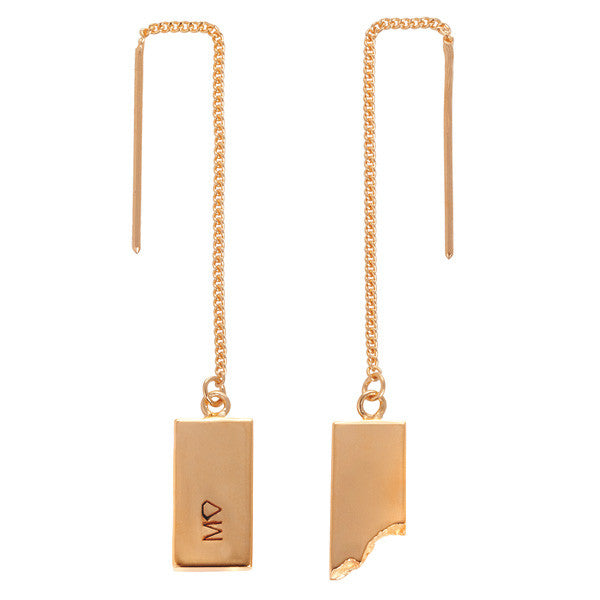 Rectangular drop earrings RGL