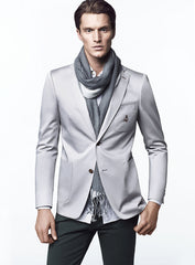 Silver Leather Prince Jacket