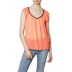 Orange layered Seychelles Top