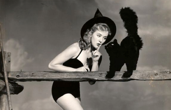 vintage pinup witch halloween