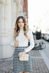 The Mini Skirt - Gingham Wool