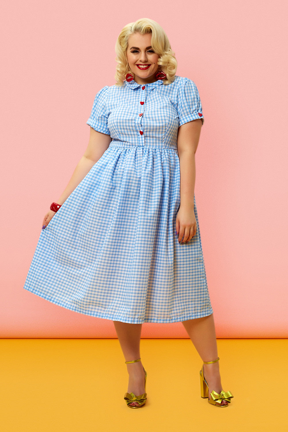The Dottie Dress - Blue Gingham