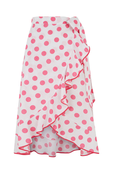 The Carmen Skirt - Pink Polkadot