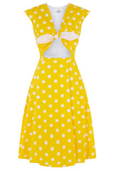 The Peekaboo Dress - Yellow Spot