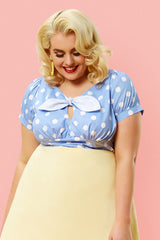 The Peekaboo Top - Blue Spot
