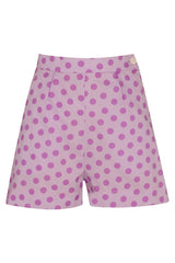The Polkadot Shorts - Lilac