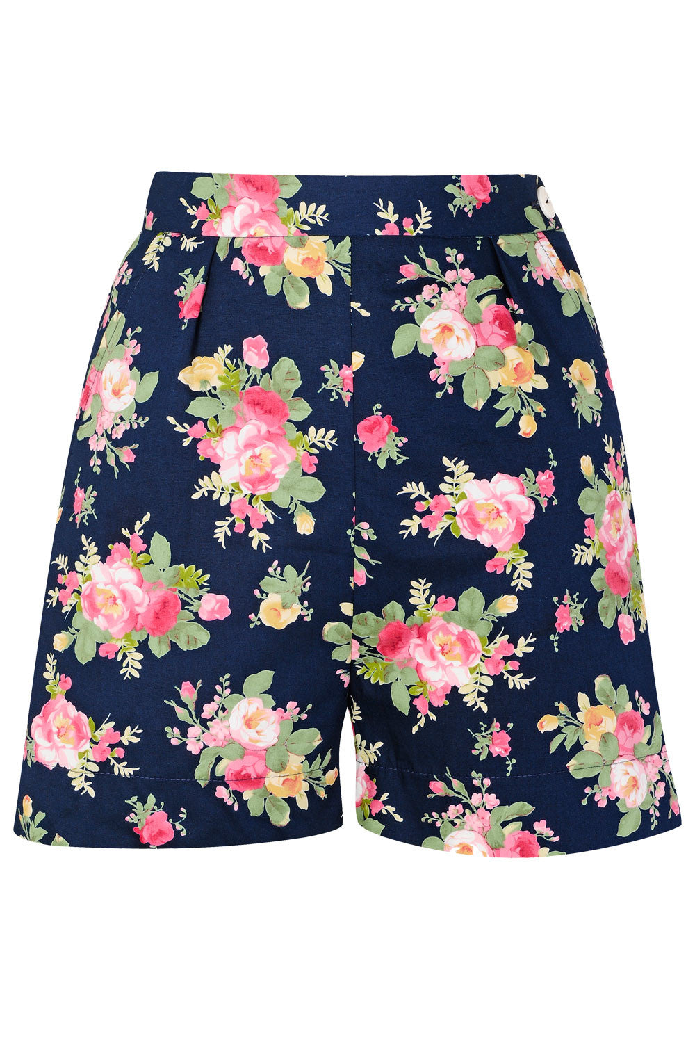 The Printed Shorts - Navy Floral
