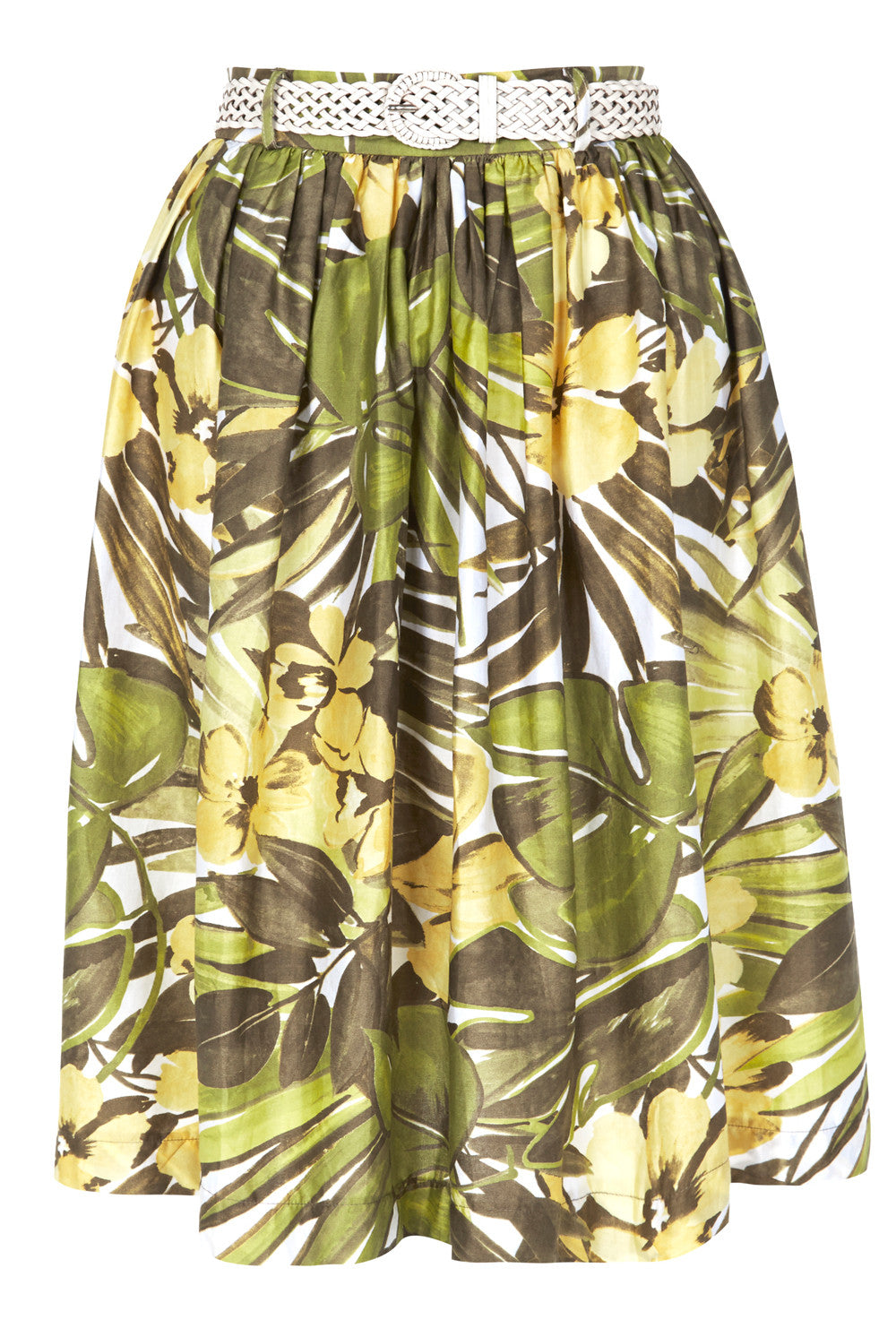 The Lucia Skirt - Yellow Palm