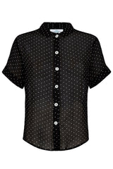The Sheer Shirt - Black Pinspot