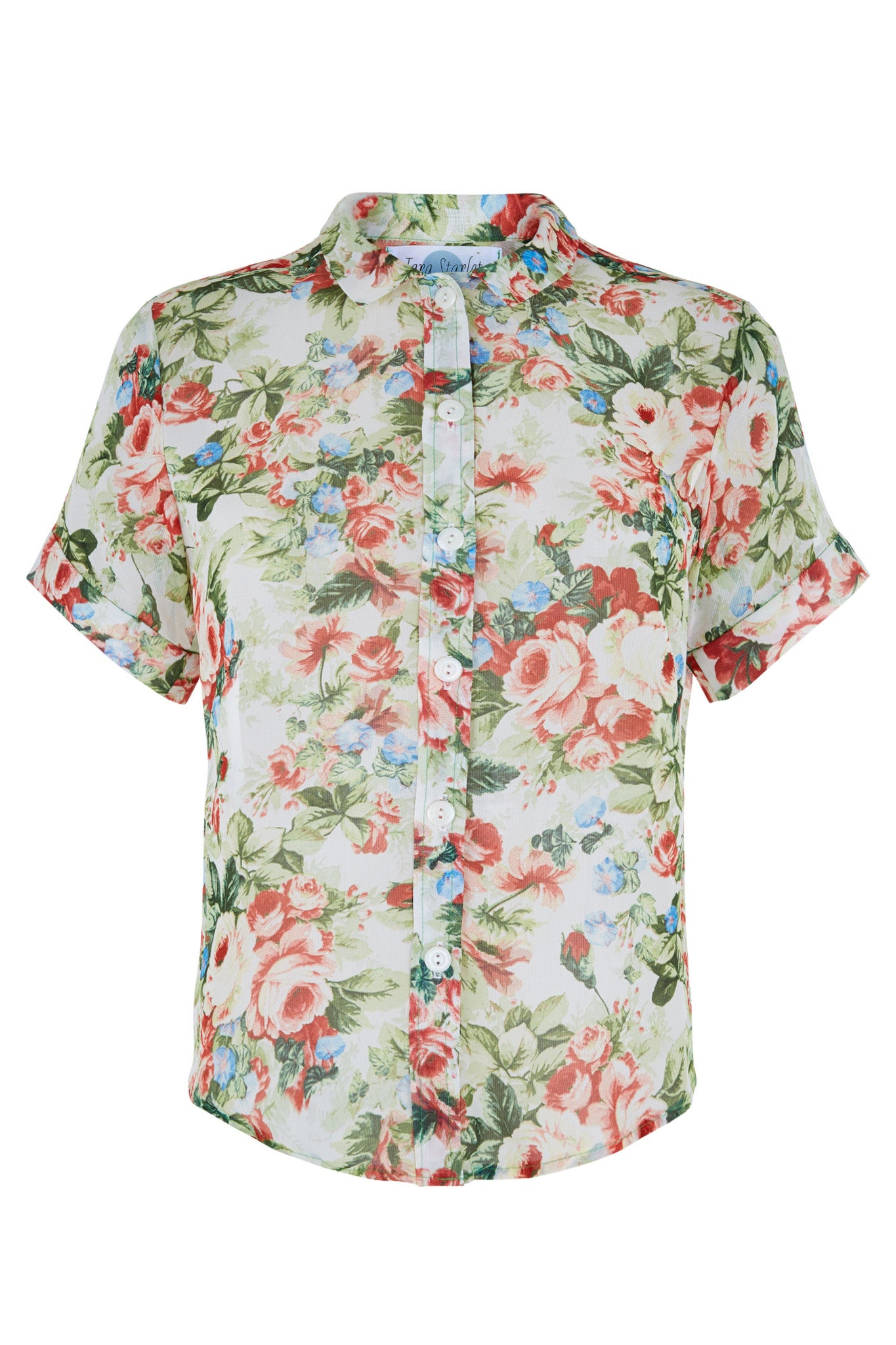 The Sheer Shirt - Green Floral