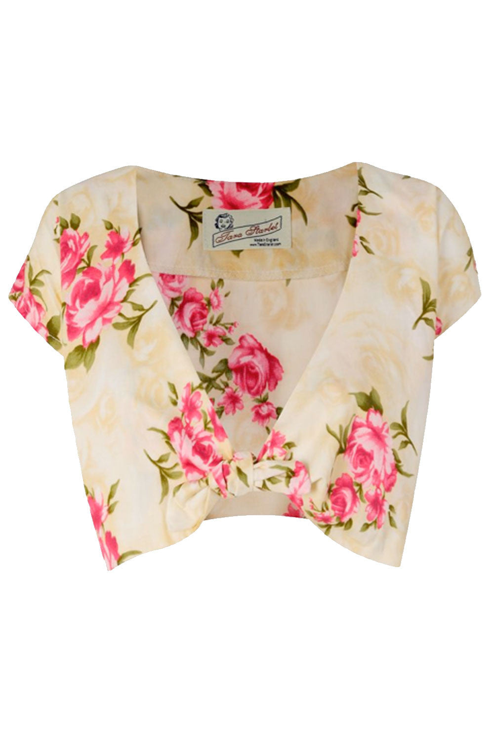 The Floral Knot Top - Pink Roses