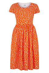 The Fifties Frock - Tangerine Hearts