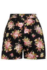 The Printed Shorts - Black Floral