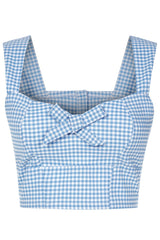 The Gingham Bow Bodice - Blue