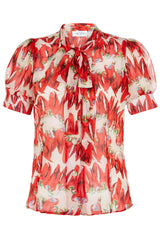 The Bow Blouse - Chilli