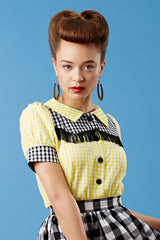 The Cowgirl Shirt - Yellow and Black Gingham