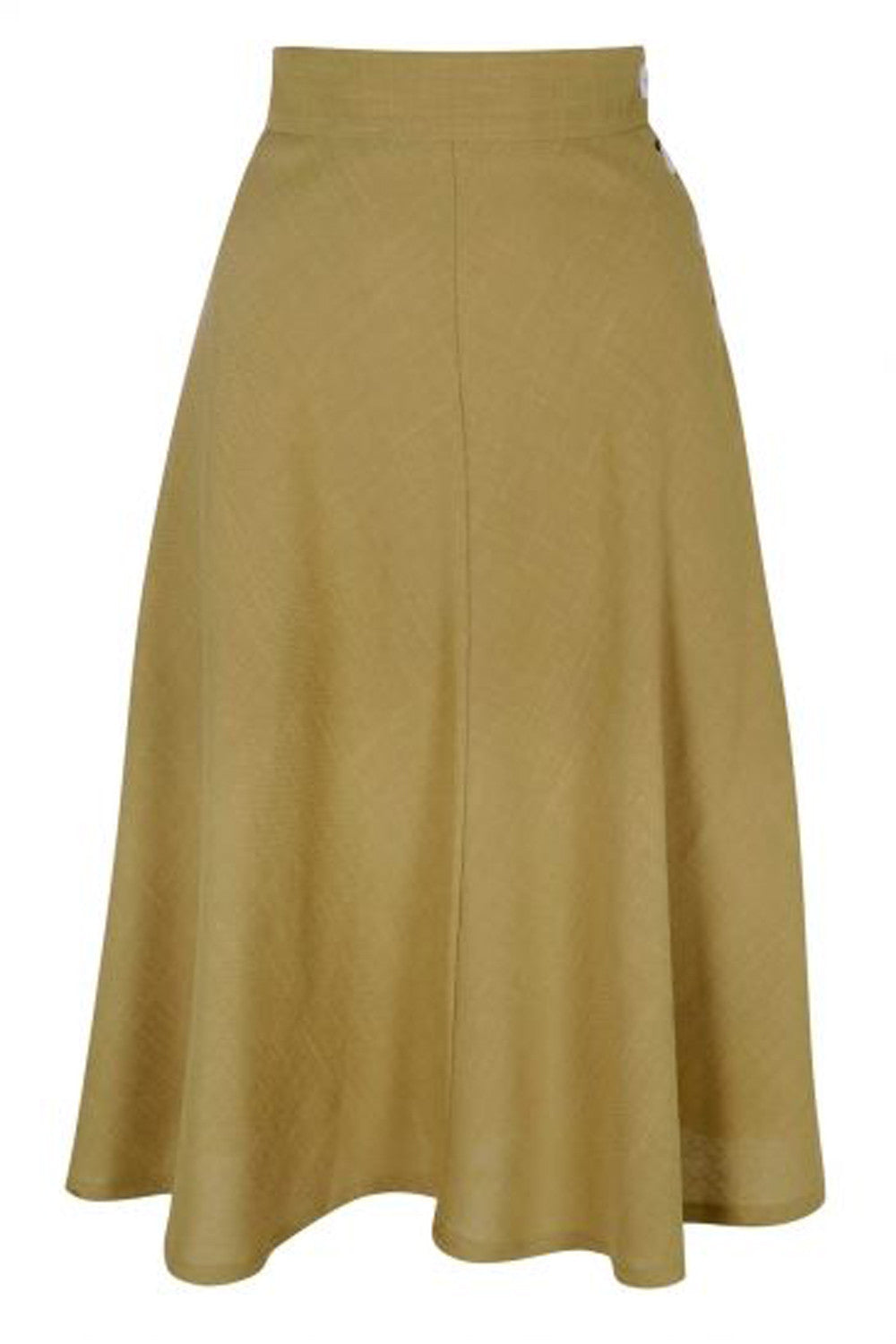 The Dancing Skirt - Khaki Linen