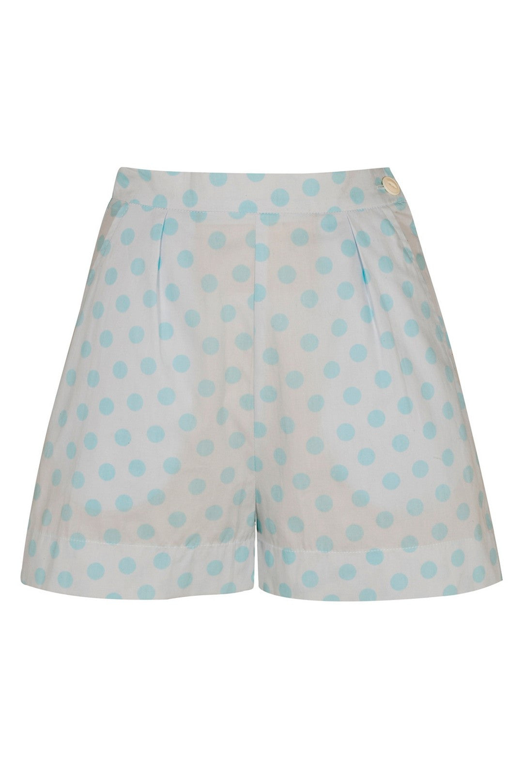 The Polkadot Shorts - Aqua