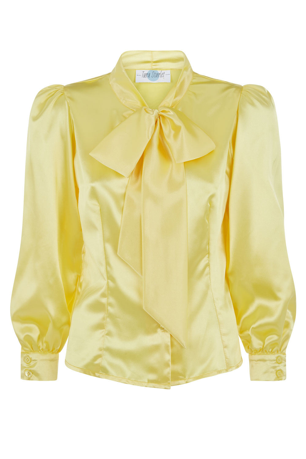 The Pussy-Bow Blouse - Lemon