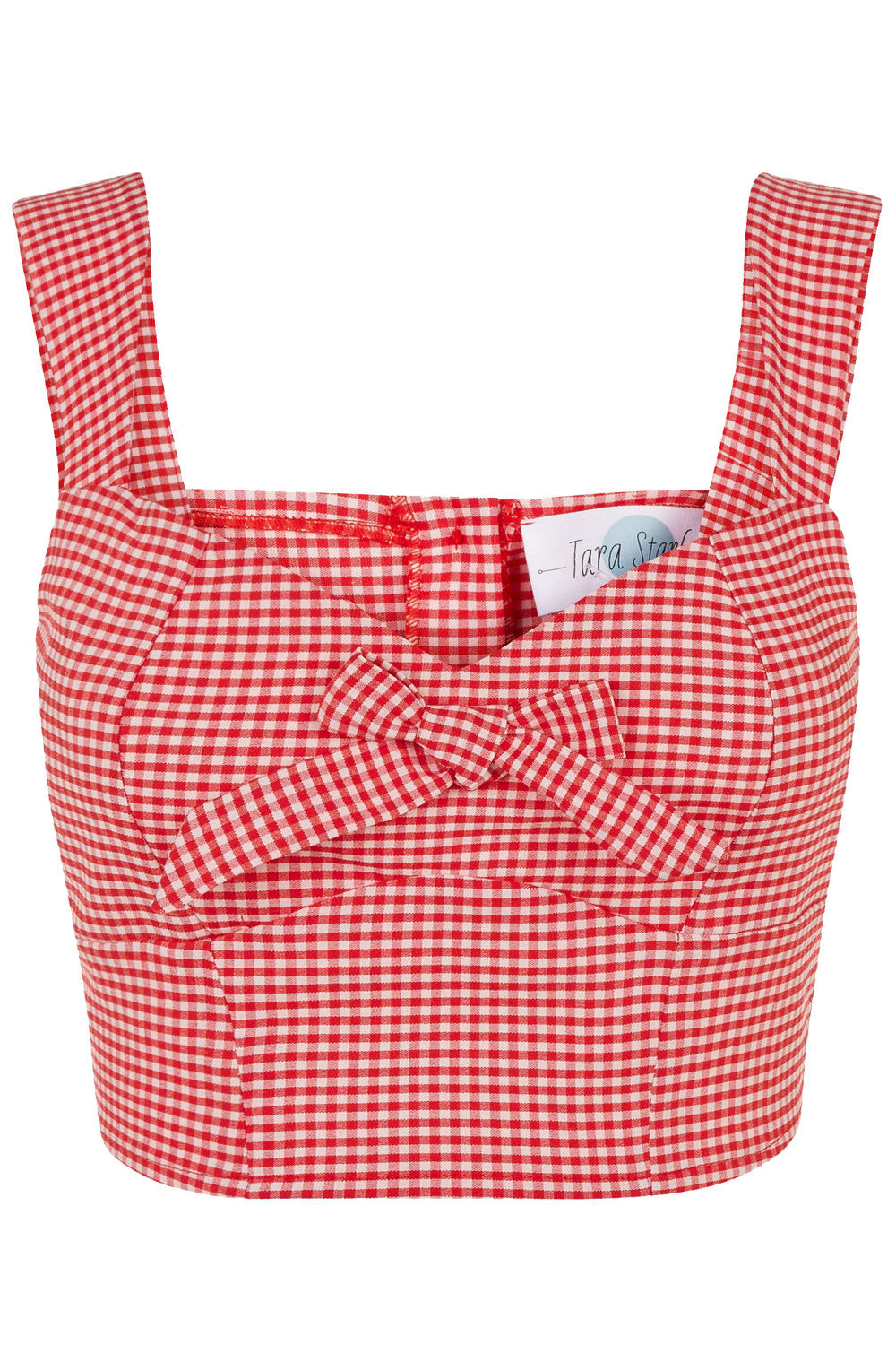 The Gingham Bow Bodice - Red