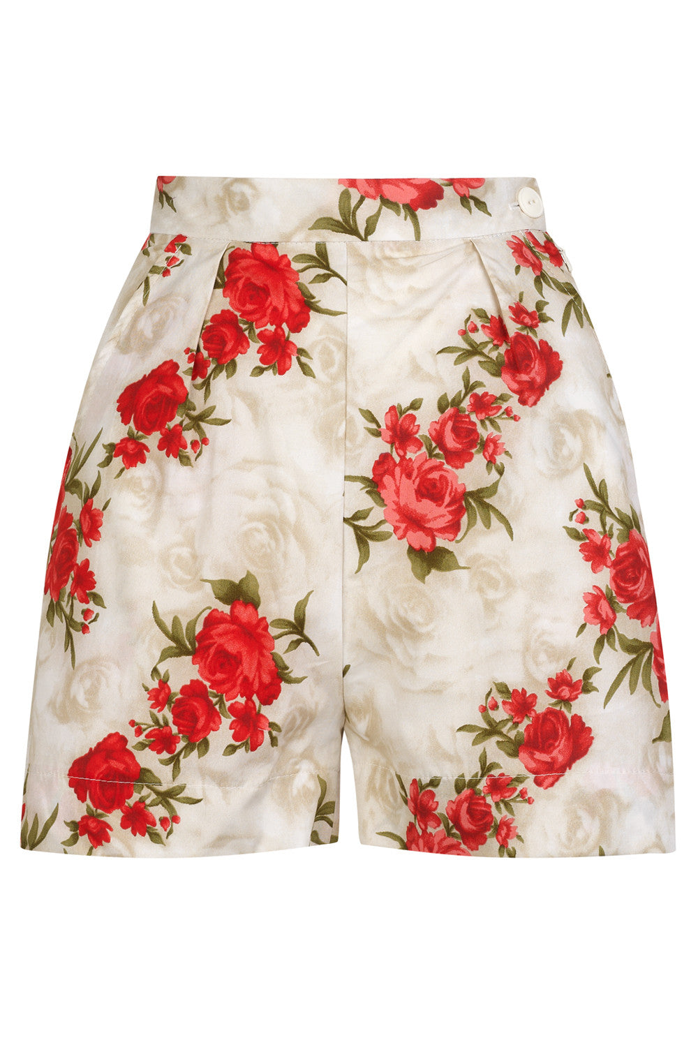 The Printed Shorts - Red Roses