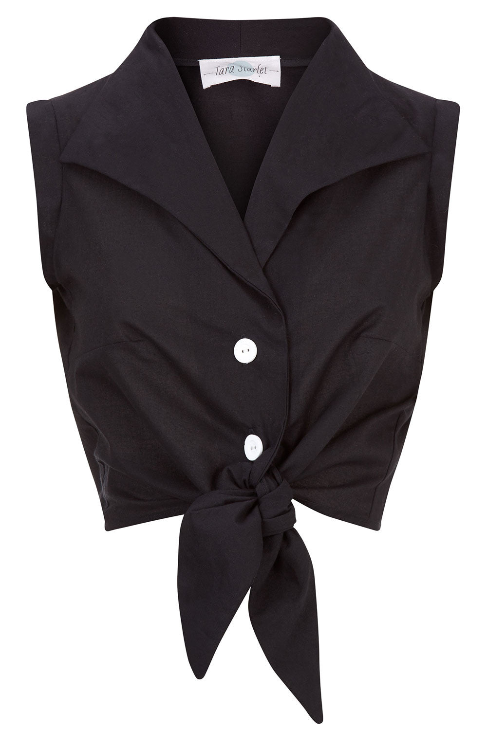The Tie-front Shirt - Black