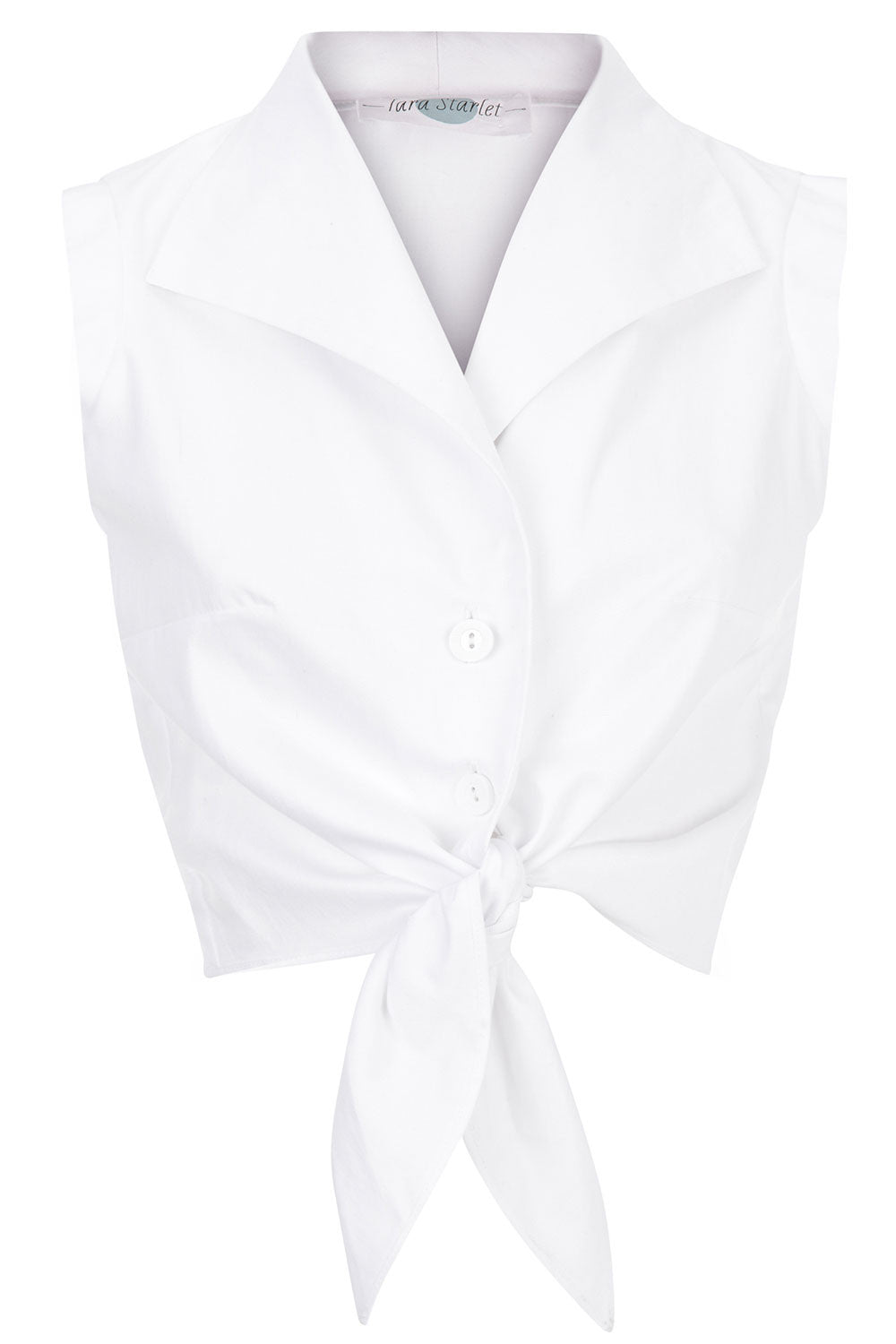 The Tie-front Shirt - White