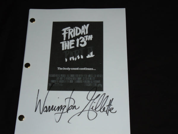 WARRINGTON GILLETTE Signed Friday the 13th Part 2 Autograph Full Movie SCRIPT