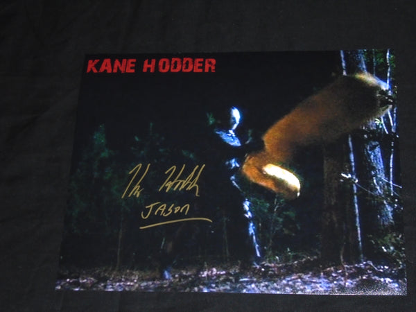 KANE HODDER Signed 8x10 Photo JASON VOORHEES Friday the 13th Part 7,8,9,X Autograph D