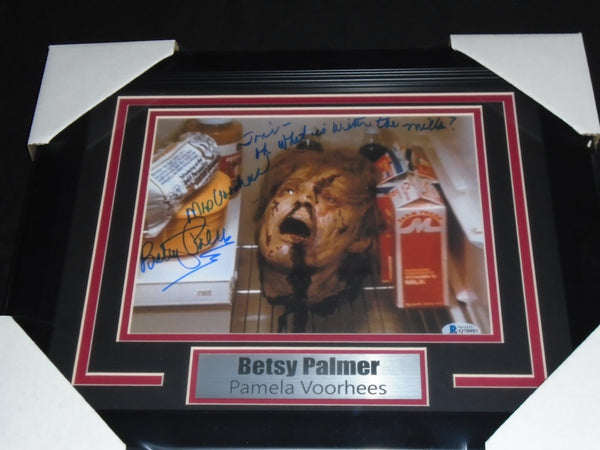 BETSY PALMER Signed Pamela Voorhees 8x10 Photo FRAMED Friday the 13th BAS BECKETT COA A
