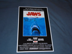 RICHARD DREYFUSS Signed JAWS 11x17 Movie Poster Autograph HORROR COA A