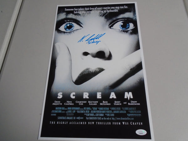 NEVE CAMPBELL Signed 11x17 Poster Wes Craven SCREAM Autograph JSA COA B