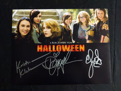 DANIELLE HARRIS SCOUT TAYLOR COMPTON & KRISTINA KLEBE 3X Signed Custom 10x13 Photo RZ Halloween Girls Autograph …