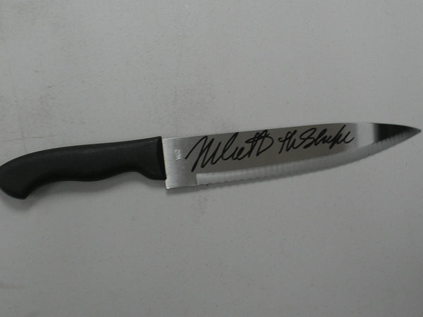 NICK CASTLE Signed STEEL KNIFE Michael Myers The Shape HALLOWEEN Autograph BAS BECKETT COA
