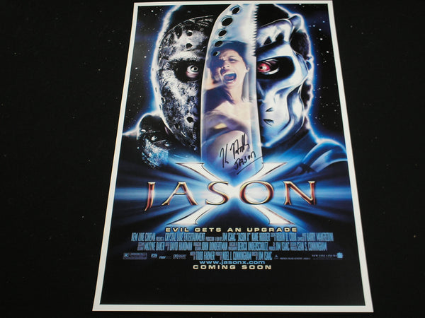 KANE HODDER Signed 11x17 Jason X Poster Voorhees Friday 13th Part 10