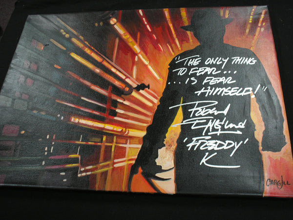 ROBERT ENGLUND Signed Painting FREDDY Nightmare on Elm Street BAS BECKETT COA C